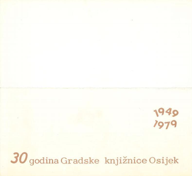 prikaz prve stranice dokumenta 30 godina Gradske knjižnice Osijek