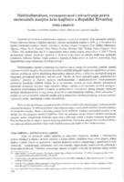 prikaz prve stranice dokumenta Multikulturalnost, ravnopravnost i ostvarivanje prava nacionalnih manjina kroz knjižnice u Republici Hrvatskoj