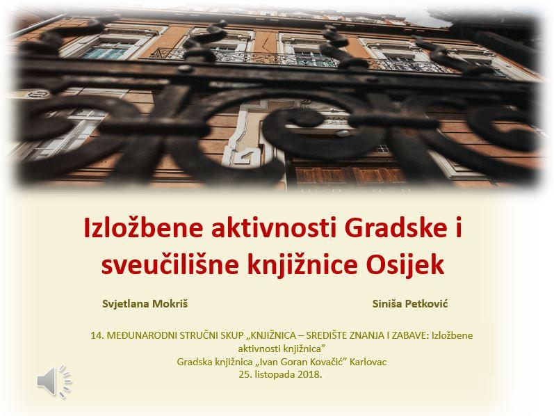 Izložbene aktivnosti Gradske i sveučilišne knjižnice Osijek